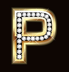 p bling vector image vector image