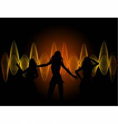 soundwaves and dancers vector image vector image