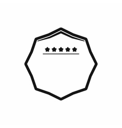 White octagon with five stars icon simple style vector image vector image