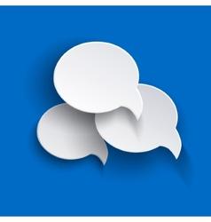Abstract speech bubbles o blue backgound vector