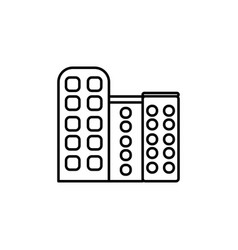 business building icon vector image