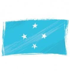 grunge Micronesia flag vector image vector image