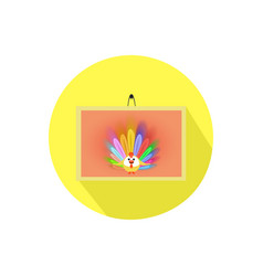 icon painting on isolated white background vector image vector image