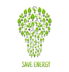 Light bulbs with green plants in a shape of lamp vector image vector image