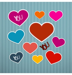 Retro Hearts Background vector image vector image