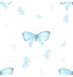 Seamless pattern with blue copper-butterfly vector image vector image