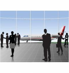 airport scene vector image vector image