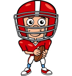 boy football player cartoon vector image