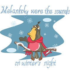 Cute Parrot Cartoon Character vector image