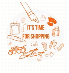 doodle eco shopping banner EPS10 vector image vector image