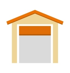 garage building isolated icon vector image