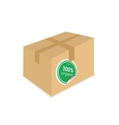 organic sticker on box vector image