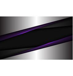 Abstract violet grey metallic silver triangle vector