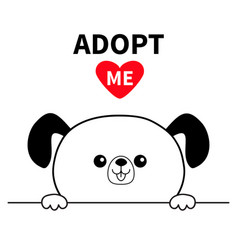 Adopt me dont buy dog face head hands paw holding vector