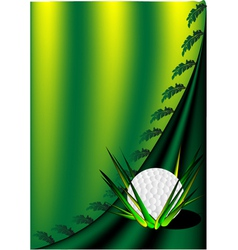 background with a golf ball vector image