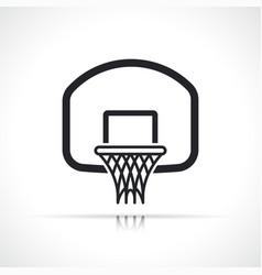 basketball hoop backboard ring icon vector image