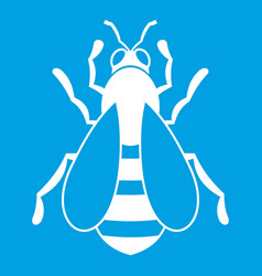 Bee icon white vector