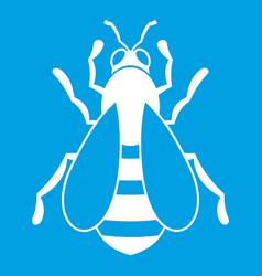 Bee icon white vector