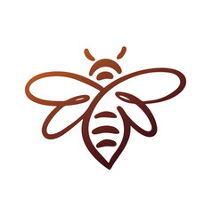 Bee logo bee honey vector