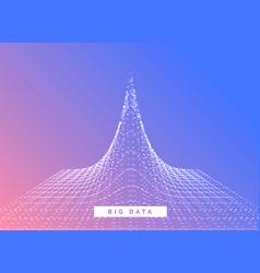 big data visualization concept design background vector image