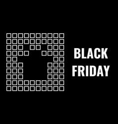 Black friday advertising banner squared mosaic vector