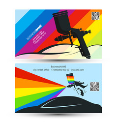 Car painting business card vector