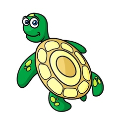 Cartoon sea turtle character vector