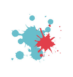 Colored splashes in abstract shape design vector