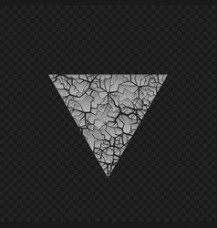 cracked triangular shape vector image