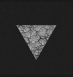 Cracked triangular shape vector