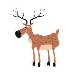 Cute deer forest animal suitable for books vector