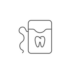 dental floss line icon vector image