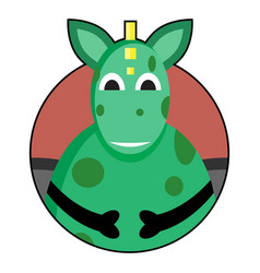 dragon icon avatar vector image