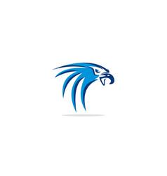 eagle head bird logo vector image