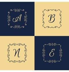 elegant monogram logo Trendy thin letter vector image