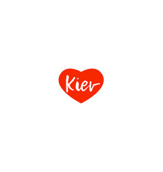 European capital city kiev love heart text logo vector