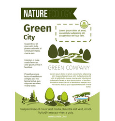 green nature and eco environment poster vector image