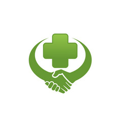 handshake clinic logo vector image