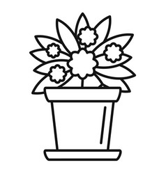 Indoor flower houseplant icon outline style vector