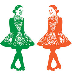 Irish step dancer vector