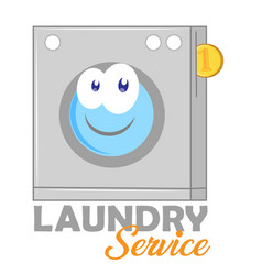 laundry logo for your business isolated on white vector image
