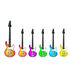 Lovely Heavy Metal Electric Guitars vector