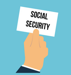 man showing paper social security text vector image