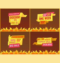 mega sale offers on geometric shape shopping label vector image
