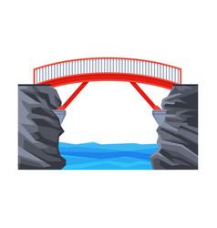 modern footbridge architectural design element vector image