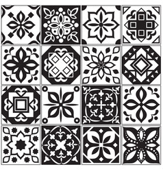 Modern interior spanish and turkish tiles kitchen vector