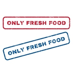 Only Fresh Food Rubber Stamps vector image
