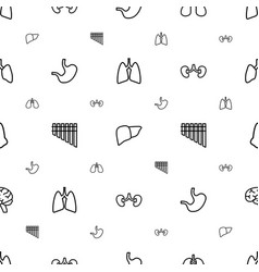 Organ icons pattern seamless white background vector