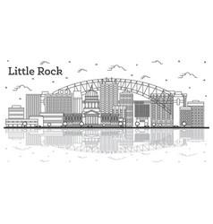 Outline little rock arkansas city skyline vector