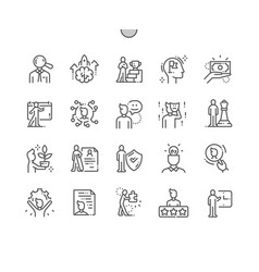 personality well-crafted thin line icons vector image